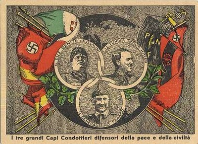Hitler, Mussolini y Franco