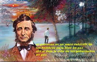El gobierno es para vivir en paz. Thoreau
